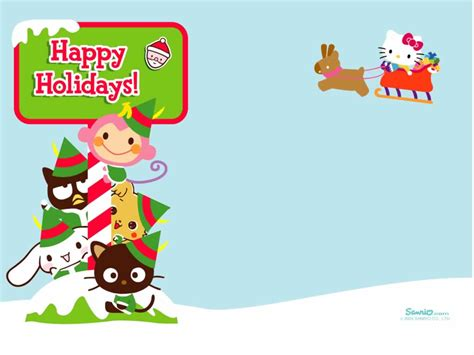 kitty christmas wallpapers kitty