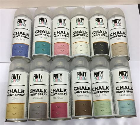 pinty plus chalk spray paint shabby chic furniture 400ml 18 vintage colours new ebay