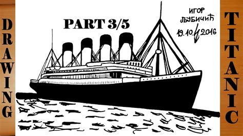 titanic boat drawing how to draw titanic ship step by step easy for kids in