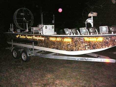 ams bowfishing boat lights show off your bowfishing rigs