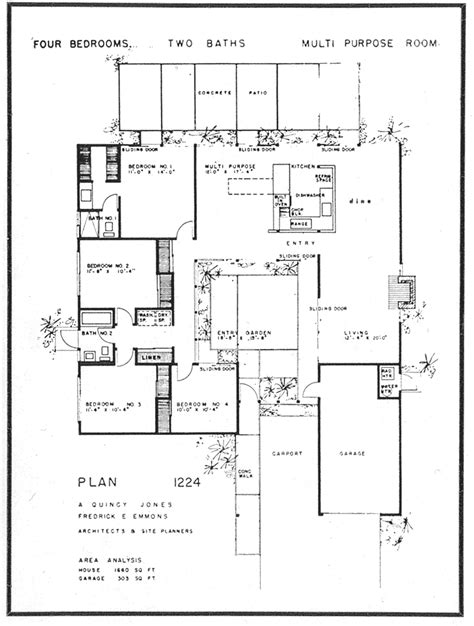 Plan For House by Eichler The House Floor Plan