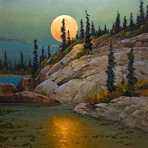 Canvas Without Frame september moon by graeme shaw