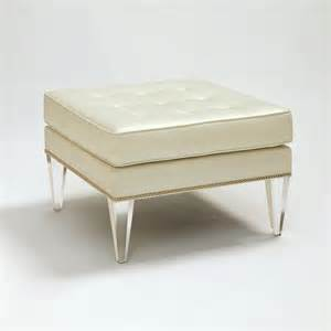 Benches And Ottomans Allan Knightacrylic Upholstery Ottomans Stools And Benches Palm Ottoman