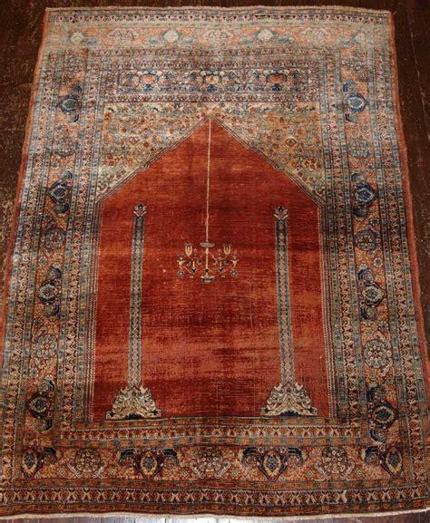 Ottoman Carpet Antique Turkish Silk Prayer Rug Ottoman Transylvanian Design Late 19th Cent 265501