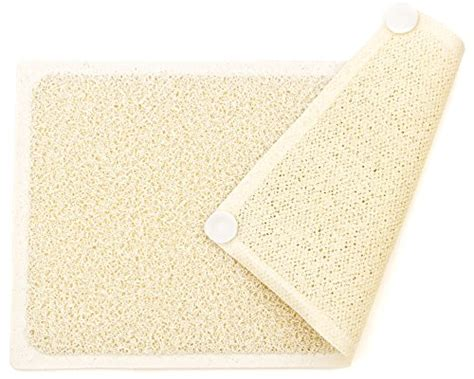 Mildew Resistant Bath Mat by Loofah Shower Mat With Eight Suction Cups Non Slip Mildew