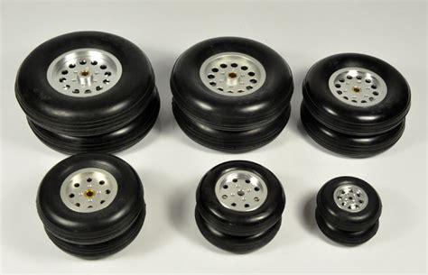 1pcs rubber wheel with aluminum hub for rc airplane model and diy robot tires 1 75 quot 4 5 quot in