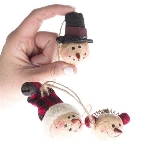 primitive paper clay snowman ornaments what s new