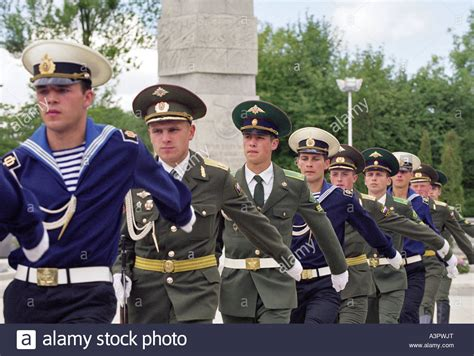 russian guard guard of honour of the russian army kaliningrad russia stock photo royalty free
