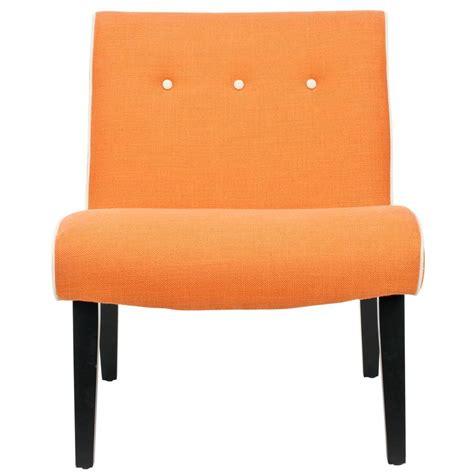 Orange Accent Chair Safavieh Mandell Orange Linen Blend Accent Chair Mcr4552a The Home Depot