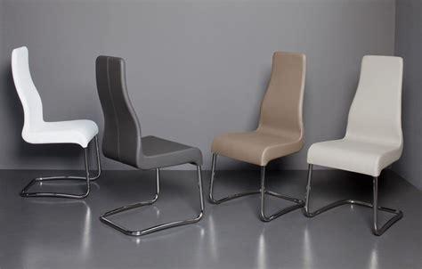 immagini sedie moderne sedia con base a slitta e scocca imbottita con