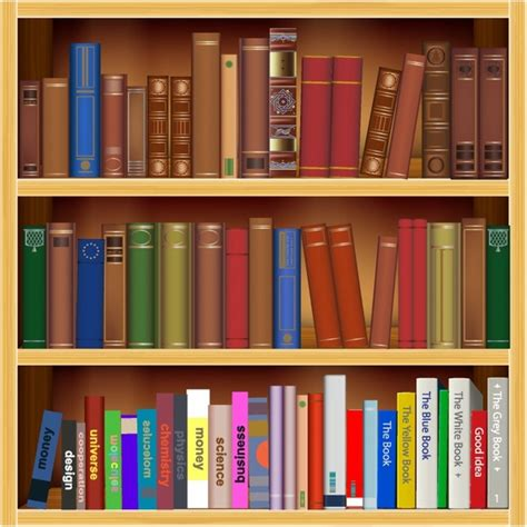 Bookshelf Christmas Tree Old And New Books Free Vector In Adobe Illustrator Ai