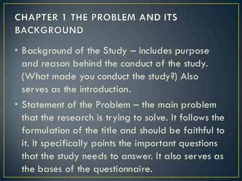 How To Make Background Of The Study In Research Paper - 5 parts of research paper