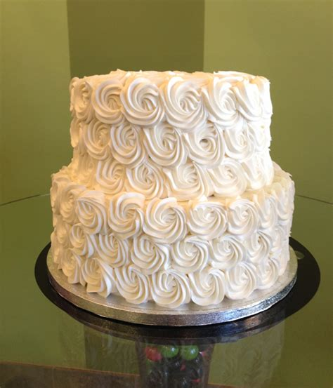 How To Decorate A Tiered Cake by Rosette Wedding Cake Cupcakes