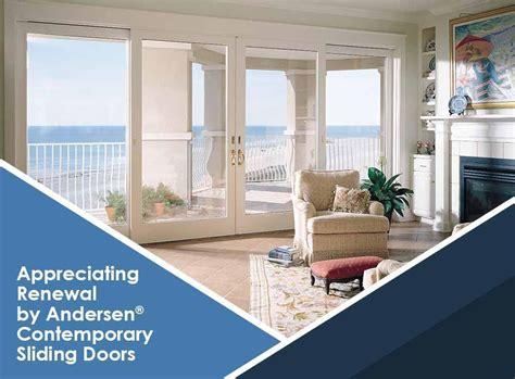 andersen contemporary appreciating renewal by andersen 174 contemporary sliding doors