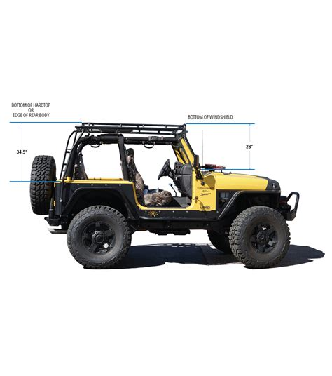 jeep gobi roof rack jeep tj 183 stealth rack 183 built for 40 led setup gobi racks