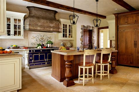 Ideas For Country Style Kitchen Cabinets Design Country Kitchens Ideas In Blue And White Colors