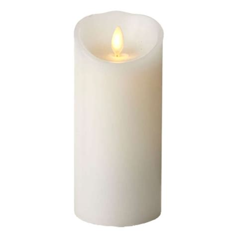 luminara 00497 3 quot x 6 quot white unscented wavy edge