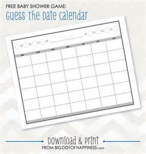 baby shower calendar template baby shower ideas guess the date free printable