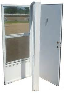 mobile home door 38x80 aluminum solid door with peephole rh for mobile home