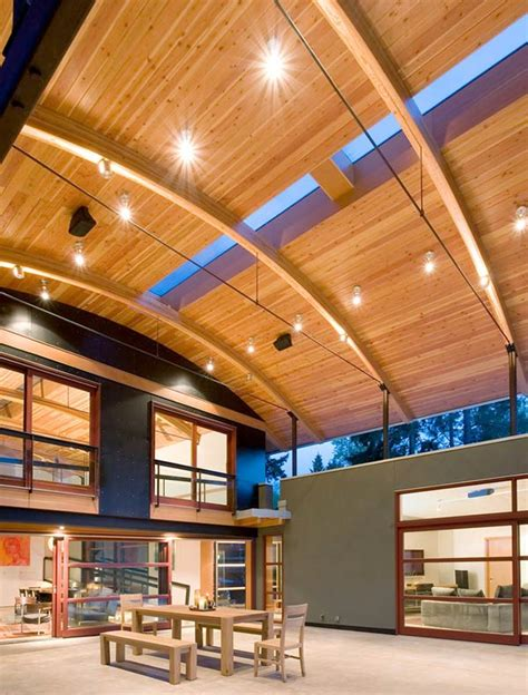 arched timber roof house   amazing party shack