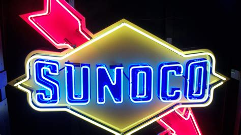 sunoco lighted signs for sale sunoco neon sign sstn 60x36 z242 kissimmee 2014