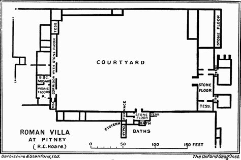 roman villa house plans romano british somerset part 3 other locations british history online