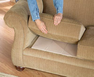 fix a sagging sofa just by putting cardboard the