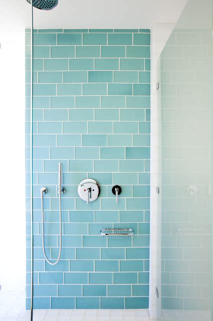 Coastal Bathroom Tile Ideas Muir Shower Modern Tile Other Metro By Island