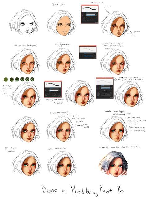 art tutorial line art ryky s medibang paint face tutorial medibang paint