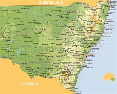 map of nsw australia australia map