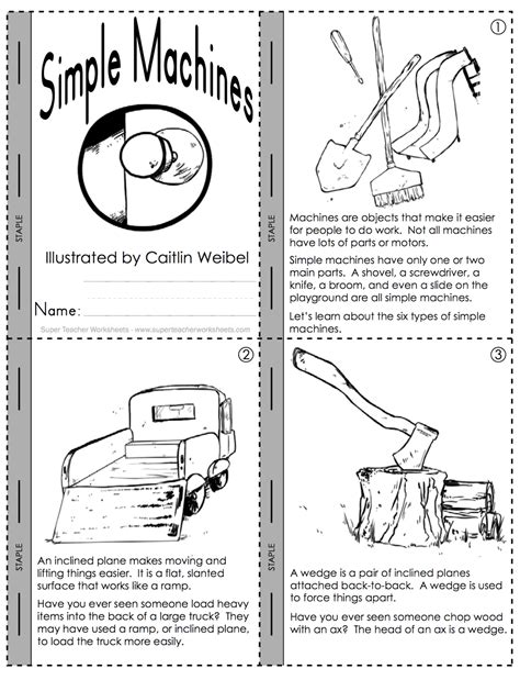 work and simple machines worksheet worksheets for all
