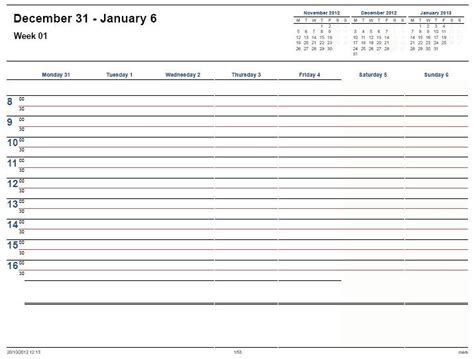 free printable weekly planner pages 2013 printable calendar 2013 171 home life weekly