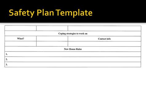 safety plan templates ppt families in essex county 196 water po