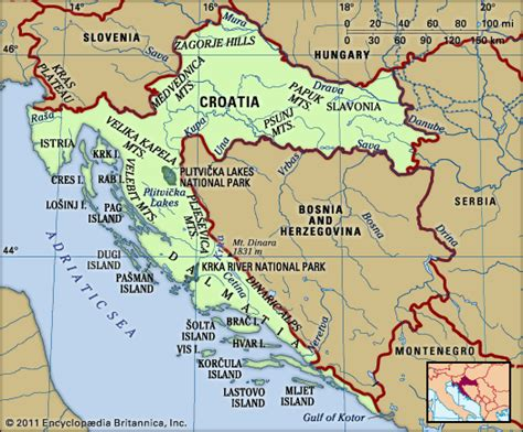 Map Of Croatia And Vukovar