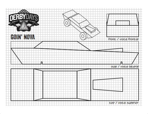 cool pinewood derby templates  sample