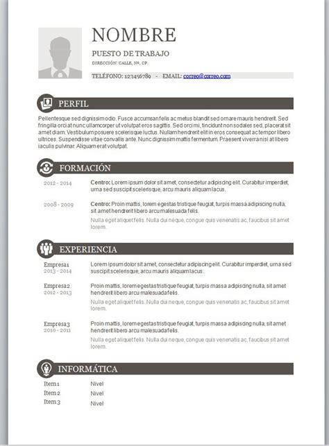 Modelo Curriculum Vitae Word Para Rellenar modelos de curriculum vitae en word para completar