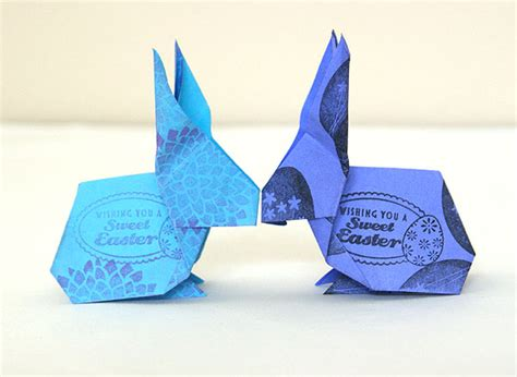 Easy Origami Easter Bunny - origami easter bunny angie s studio
