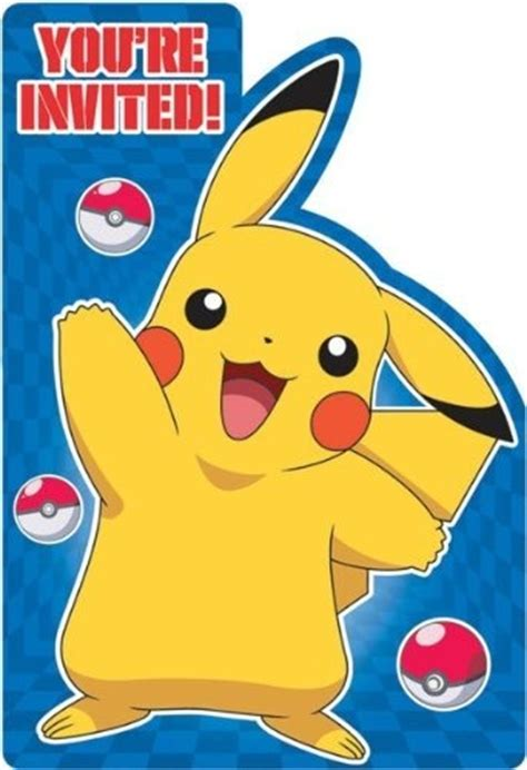 pikachu birthday card template invitations