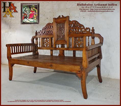 banc indien banc indien ancien jn10 sgh48 meubles indiens artisanat