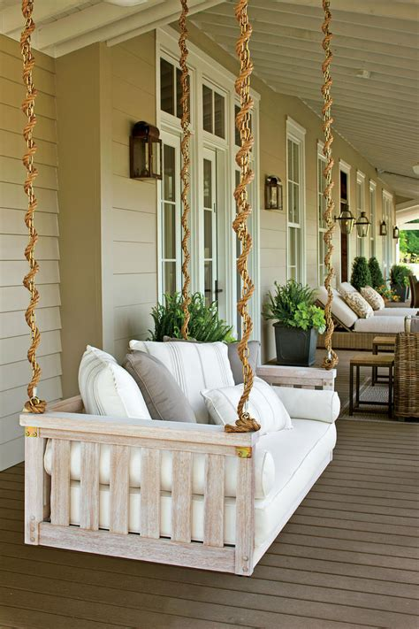 extra deep porch swing peaceful porch swings southern living
