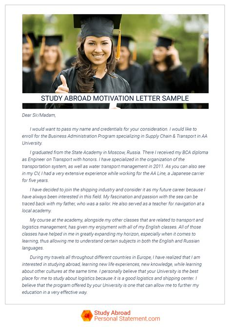 Motivation Letter Abroad Value Of A Study Abroad Letter Of Motivation Study Abroad Personal Statement
