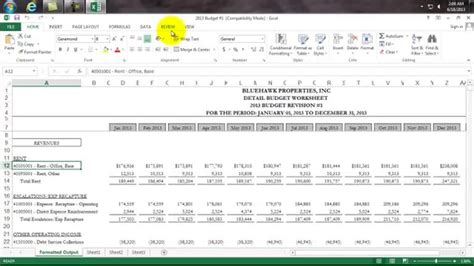 Cam Reconciliation Templates For Excel Ideal Vistalist Co Commercial Property Budget Template