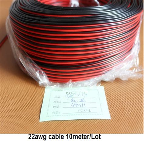 10meters lot 22awg pvc insulated wire 2pin tinned copper