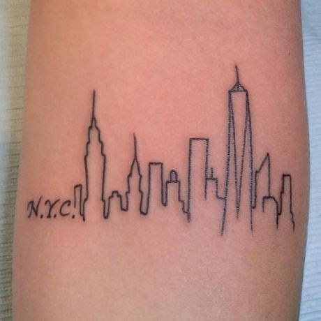 new york skyline tattoo new york city skyline by a r t trained artist pete