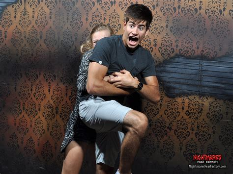 fear factory haunted house this haunted house takes photos of people s reactions to getting scared and it s