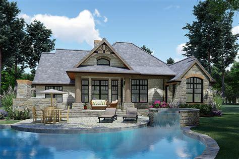cottage craftsman ranch tuscan house plan