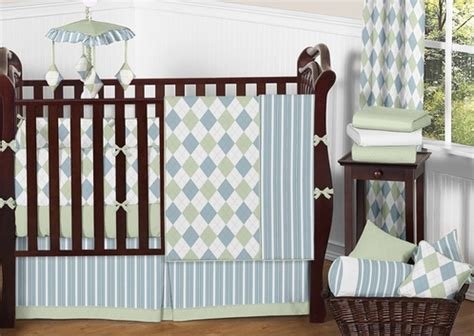 argyle crib bedding blue and green argyle baby beddings 9 pc crib set only