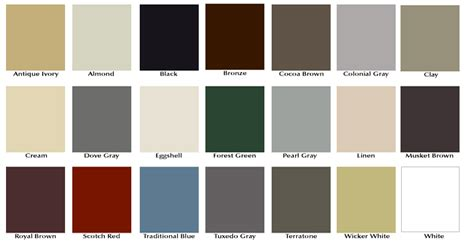 gutter colors gutter color options standard aluminum gutter colors