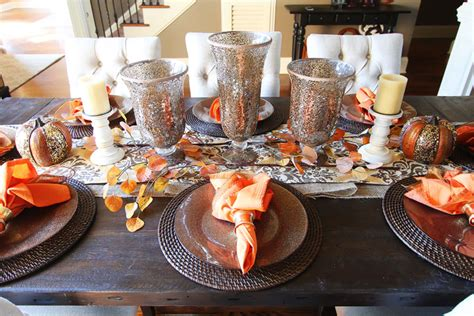 Dining Room Table Decorating Ideas For Fall Fall Dining Room Table Kevin Amanda Food Travel