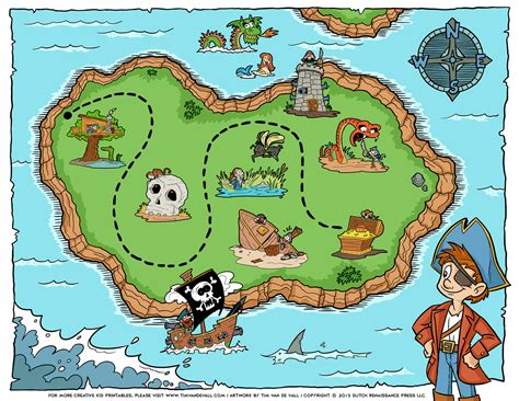 free pirate treasure maps and party favors for a pirate